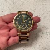 Michael Kors Accessories | Michael Kors Skylar Emerald Green Gold-Tone Watch | Color: Gold/Green | Size: Os
