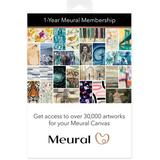 Meural Annual Membership Card for Digital Picture Frame Art MCMYA-10000S