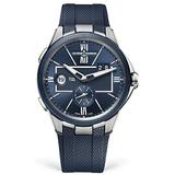 Ulysse Nardin Executive Dual Time Blue Dial Mens Watch 243-20-3/43