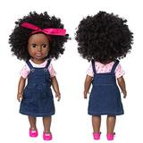 CANAFA 13.7 inch Soft Body Doll African American Newborn Baby Doll Curly Hair Cute Doll Simulation Lovely Baby 35cm Vinyl Baby Toy Realistic Baby Doll Xmas Carnival New Year Gift for Children(F5)