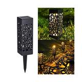 IMAGE Solar Lights Outdoor,6 Pack Solar Pathway Lights Outdoor-Waterproof,LED Landscape Lighting Solar Powered Outdoor Lights Solar Garden Lights for Pathway Walkway Patio Yard & Lawn Warm White