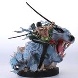 KaiWenLi One Piece/Roronoa Zoro Three Swords, Pole, Tiger Hunt/Anime Character Model/PVC Graphic Statue/Best Collectibles/Decorations/Adult Toys