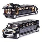 NMBD Diecast & Toy Vehicles high Simulation 1:32 Alloy for Hummer Limousine Metal diecast car Model Pull Back Flashing Musical Kids Toy Vehicles (Color : Black)
