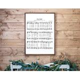 Silent Night Sign Christmas Wall Decor Silent Night Hymn Sheet Music Sign Christmas Sheet Music Silent Night Wood Framed Sign 22x12inch