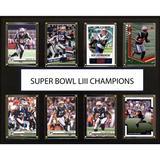 """New England Patriots Super Bowl LIII Champions 12'' x 15'' Team Card Plaque"""