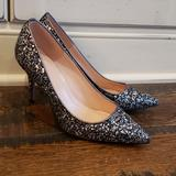 J. Crew Shoes   J Crew Elsie Pumps In Gunmetal Glitter Ae848   Color: Silver   Size: Various
