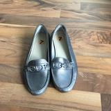 Coach Shoes | Coach Leather Penny Loafer Shoes Sz7 | Color: Gray/Silver | Size: 7
