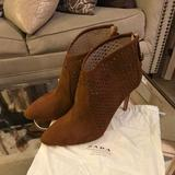 Zara Shoes | Brown Suede Ankle Boot | Color: Brown | Size: 10