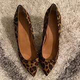 J. Crew Shoes   Calf Hair Animal Print Pumps   Color: Red   Size: 8