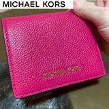 Michael Kors Bags | Michael Kors Coin Credit Card Id Bifold Wallet New | Color: Gold/Pink | Size: Os