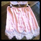 Free People Skirts   Freepeople Ballerina Petticoat Lace Lingerie Skirt   Color: Orange/Pink   Size: Xs