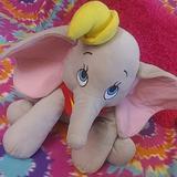 Disney Toys | Disney Elephant Dumbo Toy Kids Room Plush | Color: Gray/Pink | Size: 0000