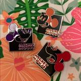 Disney Accessories   Mickey Mouse Expressions Pin Set Cute Disney Pins   Color: Black/Purple   Size: Os