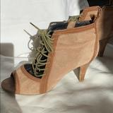 Nine West Shoes | Ladies Nine West Open Toe Booties | Color: Tan | Size: 9.5