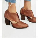 Free People Shoes   Jeffrey Campbell Free People Deep V Bootie   Color: Brown   Size: 6.5