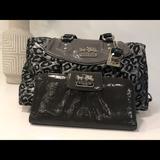 Coach Bags   Coach Madison Leopard Print Satchel & Wallet   Color: Gray/Silver   Size: Os