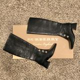 Burberry Shoes | Burberry Knee High Leather Boots Women'S Size 6 | Color: Black/Silver | Size: 6