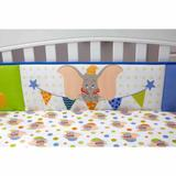 Disney Bedding | Dumbo Traditional Printed Bumper | Color: Green/White | Size: Fits Standard Crib