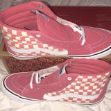 Vans Shoes | +Vans Sh8-Hi Pro Checkerboard Desert Rosewhit | Color: Pink/White | Size: Various
