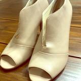 Nine West Shoes   Nine West Peep Toe Nude Bootie   Color: Cream   Size: 6