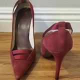 Gucci Shoes   Gucci Suede Stiletto Heel Pumps Size 8b   Color: Red   Size: 8