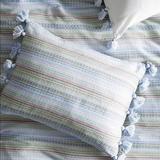 Anthropologie Bedding | Anthropologie Woven Striped Standard Sham Set New | Color: Blue/Green | Size: Os