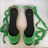 Kate Spade Shoes   Kate Spade Espadrilles   Color: Green/Tan   Size: 8