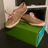 Kate Spade Shoes   Keds For Kate Spade Rose Gold Glitter Sneakers   Color: Gold/Pink   Size: 7.5