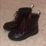 Burberry Shoes | Burberry Combat Boots | Color: Purple | Size: 28