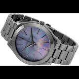 Michael Kors Accessories   Mk Slim Runway Gunmetal Mop Watch   Color: Black/Gray   Size: Os