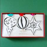 Kate Spade Holiday | Kate Spade Paper Ornaments New In Box | Color: Tan | Size: Os