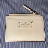 Kate Spade Bags | Kate Spade Grove Street Adi Leather Card Holder | Color: Cream/Tan | Size: 3 X 6