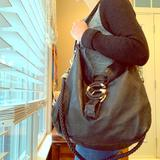Gucci Bags | Gucci G Wave Black Leather Hobo | Color: Black | Size: Os