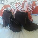 Anthropologie Shoes | Dolce Vita, Oxford Style Booties Sz 10 | Color: Brown | Size: 10