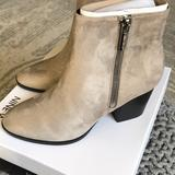 Nine West Shoes | New!! Nine West Womens Ankle Boots | Color: Gray | Size: 8.5