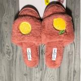 Jessica Simpson Shoes | New Jessica Simpson Faux Fur Lemon Thong Slipper | Color: Pink/Yellow | Size: Small 6-7