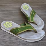 Nike Shoes | Nike Green And White Foam Flip Flops Size 10 | Color: Green/White | Size: 10