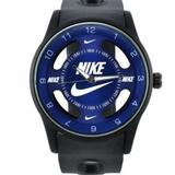 Nike Accessories | Nike Watch Sport Hollow Silicone Strap Band Unisex | Color: Black/Blue | Size: Os