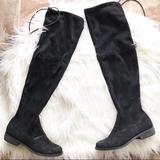 Nine West Shoes | Nine West Black Faux Suede Over-The-Knee Boots | Color: Black | Size: 7