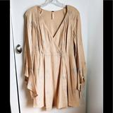 Free People Dresses | Free People Nude Ethereal Babydoll Dress | Color: Cream/Tan | Size: S