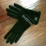 Kate Spade Accessories | Kate Spade Be Dazzling Black Leather Gloves Nwot | Color: Black/Silver | Size: Os