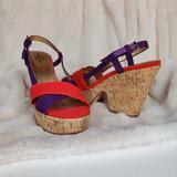 Kate Spade Shoes   Kate Spade Penny Cork Wedge Platform Sandals   Color: Purple/Red   Size: 7.5