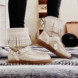 Coach Shoes | Coach Nwt Gold Tan Short Booties Boots W Tassels | Color: Gold/Tan | Size: 7