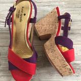 Kate Spade Shoes   Kate Spade Penny Cork Wedge Sandals Platforms   Color: Purple/Red   Size: 6