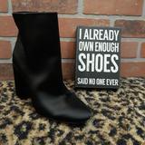 Jessica Simpson Shoes | Jessica Simpson Windee Black Satin High Heel Boot | Color: Black | Size: Various