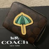 Coach Bags | Coach Wallet | Color: Brown/Green | Size: Os