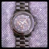 Michael Kors Accessories | Michael Kors Black Chronograph Watch | Color: Black | Size: Os