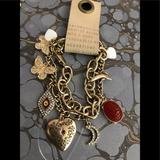 Anthropologie Jewelry   Anthropologie Two-Bracelet Charm Bracelet Nwt   Color: Gold   Size: Os