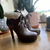 Gucci Shoes   Gucci High Heel Fur Booties   Color: Brown/Tan   Size: 7