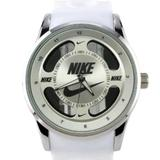 Nike Accessories | Nike Swoosh Watch Sport Silicone Band White Strap Silver Face Dial Wristwatch | Color: Silver/White | Size: Os